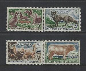 ST. PIERRE & MIQUELON - 1964 ANIMALS MINT SET MLH FAUNA