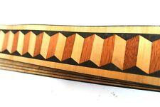 3D MOSAIC Exotic HARDWOOD EDGE VENEER Strip Edging - 1020 x 60mm - 60yrs old