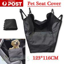 Car Back Seat Cover Pet Cat Dog Hammock Protector Mat Rear Cradle Basket Black
