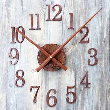 Kit Horloge Aiguilles 31,5cm DIY Mécanisme Pendule Rouille Chiffre Arabe Rusty