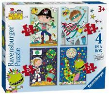 Ravensburger 06902 High Quality Rachel Ellen Boys 4 in Box Jigsaw Puzzle - Multi