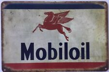 Mobiloil Oil Garage Rustic Look Vintage Tin Signs Man Cave, Shed & Bar Sign