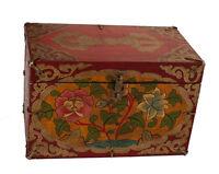 Caja Tibetano Budista Lotus Joya Tibet Nepal 30x21cm-7903