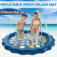 New 68inch Inflatable Sprinkle Splash Mat Toddler Baby Kid Play Water Spray Toy