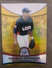 2010 Bowman Platinum George Springer Gold Refractor/ 539 ROOKIE CARD