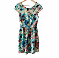 Everly Women Small floral dress summer spring  S Easter Fit And Flare Multicolor