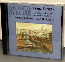 MUSICA SVECIAE CD MSCD 531: FRANZ BERWALD Symphonies Nos. 4 & 3 - OOP 1991 UK SS