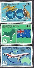 CHRISTMAS IS 1983 25th Anniv AUSTRALIAN TERRITORY Kangaroo Bird Flag 3v MNH
