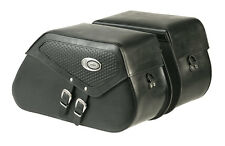 Ledrie Satteltaschen DeLuxe Leder, verstärkt, 20 Liter, f. Harley - Davidson