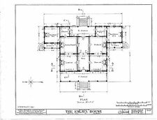 Antebellum Plantation home, elegant single story, porches, architectural plans