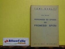 L 3.925 LIBRO PERSONAGGI ED EPISODI DEI PROMESSI SPOSI DI JOLE GEROSA 1983