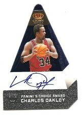 Charles Oakley 2011-12 Panini Preferred Paninis Choice Blue Auto 23/50