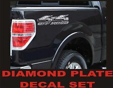 4x4 OFFROAD Truck Decal Set DIAMOND PLATE CHROME for Ford F150 & Super Duty
