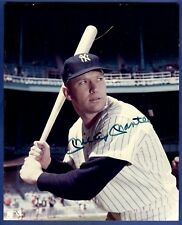 Mickey Mantle Autographed 8 x 10 Photo New York Yankees
