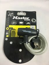 Brand New Master Lock - Black Self Coiling Keyed Cable 1.8m x 8mm