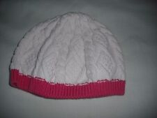 Tu baby girls cable knit cream pink hat 1-2 years
