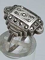 Art Deco Silber Ring 20er/30er Jahre - 935 Silber punziert RG 55/17,5mm /A257