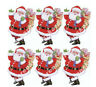 Christmas Santas Father Xmas Toppers Cute Card Making Craft Embellishment x6