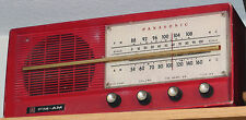 Vintage Panasonic Model # 740 AM/FM Tube Radio in RED