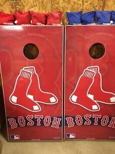 New w/ Blemish  Wild Sales Boston Red Sox Cornhole Set Free Shipping