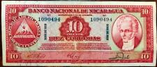 Banco Nacional de NICARAGUA - 10 Cordobas 1959 - Pick 101b - Crisp Extra Fine