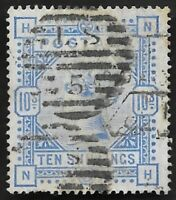 1884 QV SG183 10s Ultramarine NH High Value Fine Used CV £525