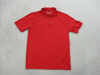 Nike Golf Tour Performance Polo Shirt Adult Small Red White DriFit Golfer Men A7