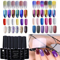 6Pcs Color Kit Gel Nail Polish UV LED Soak Off Top Coat Gel Salon  7.5ml