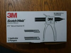 3M Scotch-Weld EPX manual dispenser 3  plus 2 plungers