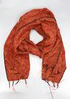 Rust Mix Orange Himalayan Yak Wool Shawl
