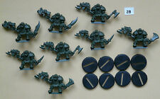 SPACE CRUSADE LOT 8 figurines ORKS TBE (8 socles) GAMES WORKSHOP MB 1990  /SC28