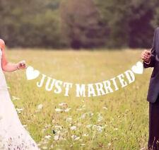 """""""Just Married"""" Girlande Weiss - Hochzeitsdekoration DIY Deko"""