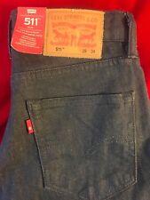 "BNWT LEVIS 511 Men's Slim Fit Washed Black Jeans Waist 29"" Leg 34"" GIFT IDEA"