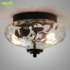 Vintage Industrial Glass Lampshade Pendant Ceiling Light Chandelier Fixture New