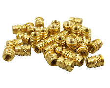 100x M2.5 2.5mm M2.5-0.4 Long Threaded Heat Set Screw Inserts for 3D Printing