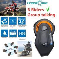 6 Riders BT Freecon Motorcycle Bluetooth Intercom Helmet Interphone Soft Headset