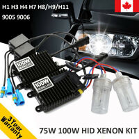 75W 100W Car HID Xenon Headlight Bulb Ballast H1 H3 H4 H7 H8 H9 H11 9005 9006 CA