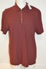 JAMES PERSE Man Zip Up Polo T-shirt NEW Size 4 X-Large Retail $165 Made in Japan