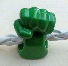 Marvel Avengers Green HULK SMASH FIST Acrylic Superhero European Charm Bead