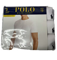 Polo Ralph Lauren Men's Logo Crew Neck Undershirt 3 Pack Tee Classic Fit XL New