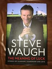 SIGNED Book - Steve Waugh - Meaning of Luck - Signed Autobiography