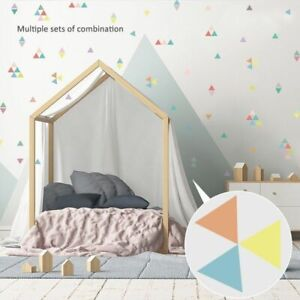 Wall Stickers Triangles Children Room Decals Girl Favors Room Modern Decorations