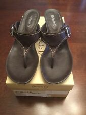 Michelle D Thong Sandals Brown Used 8M