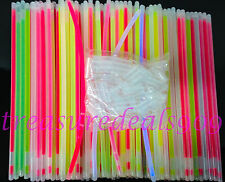 "300 8"" Glow Light Sticks Bracelets Mix Colors Necklaces Party Favors Halloween"
