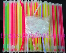 """300 8"""" Glow Light Sticks Bracelets Mix Colors Necklaces Party Favors Halloween"""