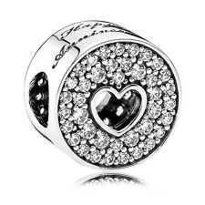 Original PANDORA Silber Element 791977CZ Happy Anniversary