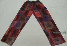 T617 XL Multicolor unisex cotton Patched Printed Homemade striped Trouser Nepal