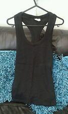 Ladies BNWOT Black Stretchy Vest Top Size L (12)