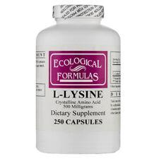 Ecological Formulas L-Lysine 500 mg, 250 Capsules