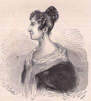 Portrait XIXe Sabine Casimire Amable Voïart Amable Tastu Metz Femme de Lettre